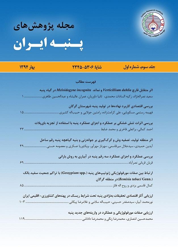 مجله پژوهش های پنبه ایران